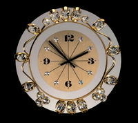 crystal clock with mirror